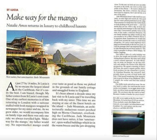 Jade Mountain- The Spectator Dec 2010/Jan 2011
